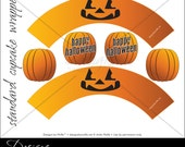 "Printable ""Pumpkin"" Designer Cupcake Wrappers"