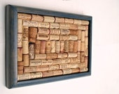 Wine cork board repurposed from an Old Glory blue tray