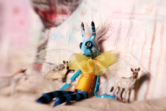 Pastel Doll Photograph 13x19 8x11 fine art print, childrens room home decor. whimsical strange wall art,