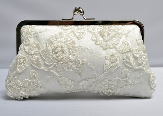 French Lace U0026 Pearl Bridal Clutch Ivory Bridal Clutch Formal