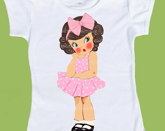 So Sweet Girl TShirt ANY hair and eye color Free Personalization  by ChiTownBoutique.etsy