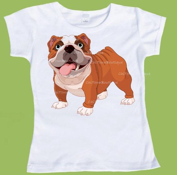 English bulldog shirt bulldog t shirt brown and white dog T shirts for english bulldogs