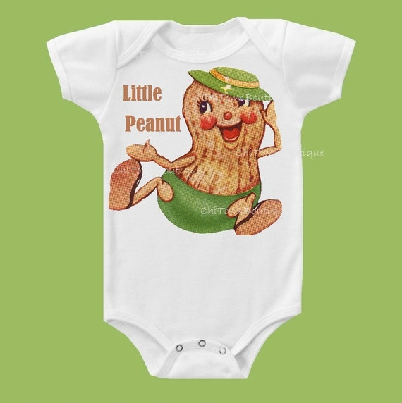 Little Peanut,Baby one piece, shower gift, baby clothes One Piece Baby or TShirt by ChiTownBoutique.etsy