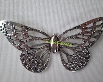 1PC - Large Butterfly Pendant - Silver Toned - 90mm - Findings by ZARDENIA