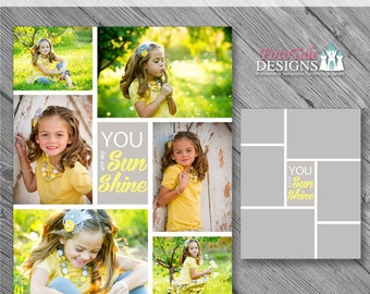 INSTANT Download - 16x20 Storyboard Collection 2, Collage 14 - custom 16x20 and 8x10 photo collage/storyboard template