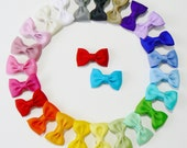 Girls Infant Hair Bow Set Newborn Small Tiny Little Baby Bows Rainbow Colors  Kids Boutique Hair Clip Hairbows (Set of 25) Choose Colors