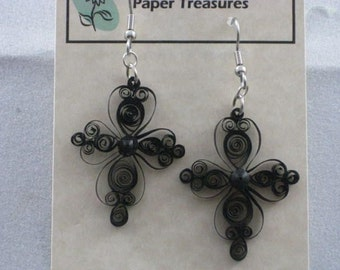 Lacy Cross Earrings