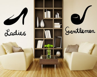 Vinyl Wall Decal Sticker Ladies and Gentlemen OS_MB1119A