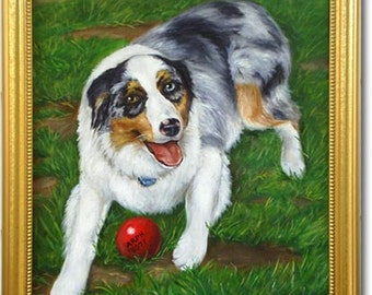 16x20 Custom Painting of Your Dog by Lorina's Pet Portraits Made to Order