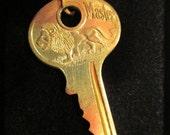 Vintage Master Lion Key Necklace