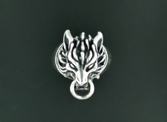 Cloud Strife Wolf Ring in Sterling Silver