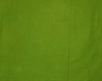 260 - Bright green hand dyed cotton fabric