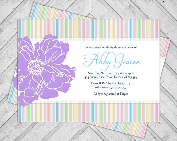 Gender Neutral Baby Sprinkle Invite Shower By Alittletreasure