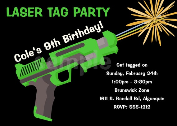 Laser Tag Party Invitations Template Free with adorable invitation layout