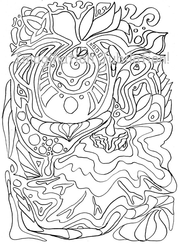 Items similar to Zentangle Coloring page zen doodle