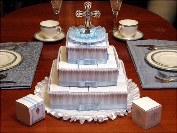 Etsy Cake Favor Boxes : Baptism christening rosary favor cake by shadow