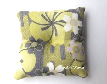 Cotton Sachets- Lavender Scented- Pale Green Flower