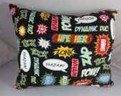 Geeky Mini Pillow - Comic Book Words - Wham!
