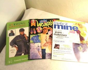 3 Books, Jean updates. Spray Art Wearables, Make it Mine, Winter 2007