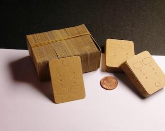 190 pcs - paper earring display card - small earring card - natual paper - NPCS3