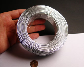 Aluminum wire 15 gauge - 1.5mm - 328 foot rool - good quality - silver - anodized wire - 100 meters