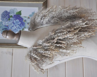 SALE -30% Felted Fur Neck Warmer Collar Felted scarf OOAK-- Ready to Ship now