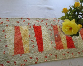 Autumn Table Runner Handmade by Dreamy Vintage Sheets