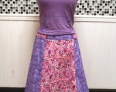 Peace Sign Daisy Flowers Tie Dye  Floor Length Patchwork Hippie Panel Skirt XS-XXL