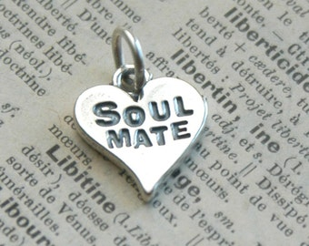 Sterling Silver Soul Mate Heart Charm - Add On For Design Your Own By Inspired Jewelry Designs