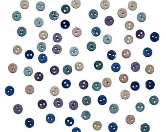 Jesse James Button Embellishments Micro Mini Minis Round Romance 2 Hole Buttons Findings