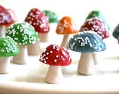 Chocolate Filled Toadstools CUSTOM COLORS 48 / Featured in the Brides Guide -Martha Stewart Weddings