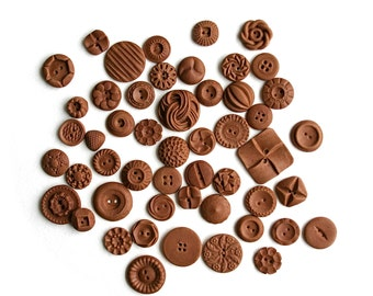 Chocolate Candy Vintage Buttons 50 by Andie's Specialty Sweets
