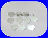 Silver Swirly Hearts  -20 Gauge blanks - heart blanks -  Premium Hand stamping metal blanks - 20 g