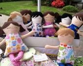 "Plush Doll, Rag Doll Look a Like Doll - ""Lets Bee Friends"" Doll - Custom Doll"