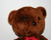 Vintage Knickerbocker Teddy Bear with Red Bow