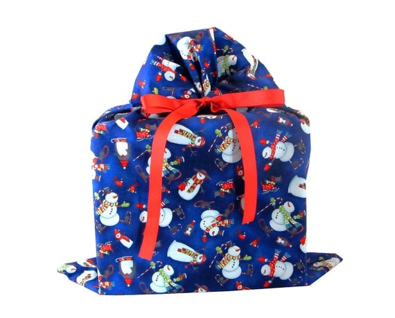 On sale large christmas gift bag with snowmen and by vzwraps