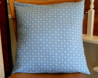 Blue or Green Geometic Circles Pillow Covers in Three Sizes  15, 16, 18