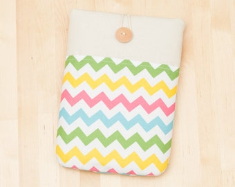 kindle Paperwhite case / kobo aura case / kindle voyage case / Kindle Paperwhite sleeve / kobo glo case - colorful chevron  ---
