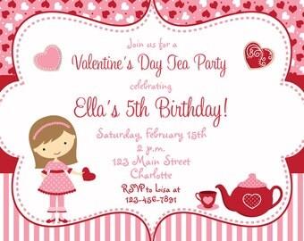 Tea Party Invitation Princess Tea Party Birthday Tea Party