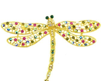 Multicolor Dragonfly Pin Brooch And Pendant 1010041