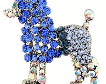 Capri Blue Poodle Pin Animal Pin Brooch 1012782