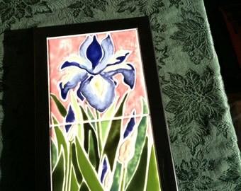 Iris in two tiles
