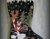 To All A Good Night Stocking KIT by cheswickcompany