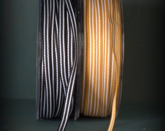 Variety Pack of Halloween Ticking Ribbon 6 yards by cheswickcompany