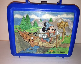 Vintage Mickey Mouse and Pluto Lunchbox and Thermos