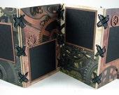 Steampunk Wooden 4x6 Mini Accordion Album - Just add Photos