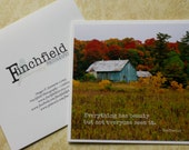 Everything has beauty - rustic barn, photo art card, blank card, inspirational quote, autumn photography, famous quotes