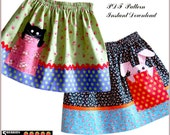 Pik-a-boo Girls SKIRT PATTERN + Free Mother-Daughter Apron Pattern, Sewing pattern for Children, PDF, clothing patterns, craft supplies