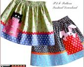 Girls SKIRT PATTERN,12m-12y, Peek-a-boo SEWING Pattern, handmade, pdf, children, instant download, clothing patterns,  toddler, baby