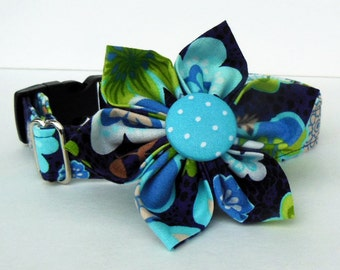 Adjustable Dog Collar Flower Set Floral- Made to Order-